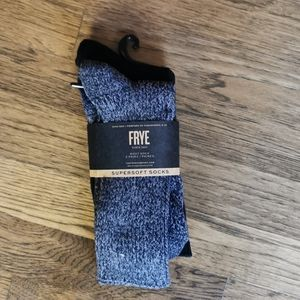 Frye Supersoft Boot Socks Two Pairs Grey Black New